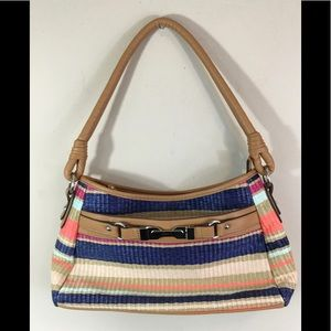 Rosetta Multi Colored Tote Purse Compartments